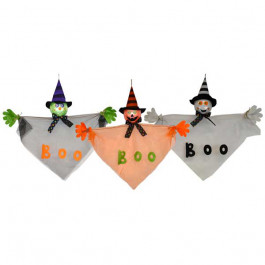 24 in Hanging Halloween Decor Assorted Ghost , Pumpkin and Witch