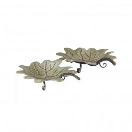 Decorative Leaf Tray 2 pc Set