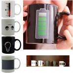 2 Mugs Magic Battery Tea Water Hot Cold Heat Sensitive Color Changing Cup Coffe