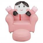 Flash Furniture HR-27-GG Kids Pink Little Girl Rocker Chair and Footrest