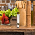 Electric Pepper Mill With Light, Flat Top,