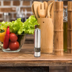 Electric Pepper Mill With Light, Rounded Top