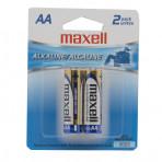Maxell Alkaline AA Batteries 2 pk - Exp. 04-2023, Eng/Sp/Fr,48/case