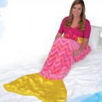 Snuggie Tails - Super Soft Blanket - Pink Mermaid - Adult