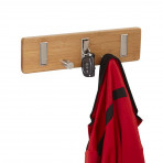 Bamboo 5 Hook Key Wall Coat Rack - Natural