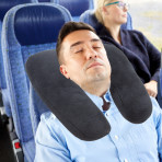 2 in 1 Travel Pillow - Black