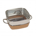"Copper Chef 11"" Square Pan With Lid & Copper Chef XL 11"" Square Extender Ring 3""H - Mail Order"