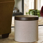 Round storage Ottoman with Padded Seat