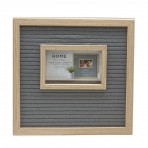 "Letter Board With Photo Natural Grey Frame 11.81"" x 11.81"""