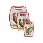 3 Pc Cutting Board Rooster