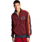 MEN'S CHAMPION LIFE Track Jacket, Big C & Logo Taping