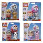 Bright Blox Figures Asst Mastercases - Boy & Puppy, Girl & Kitty, Animal Doctor & Bunny , Fire Chef & Dog